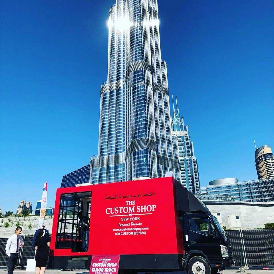 The Tailor Truck, a bespoke store-on-wheels, launches in Dubai