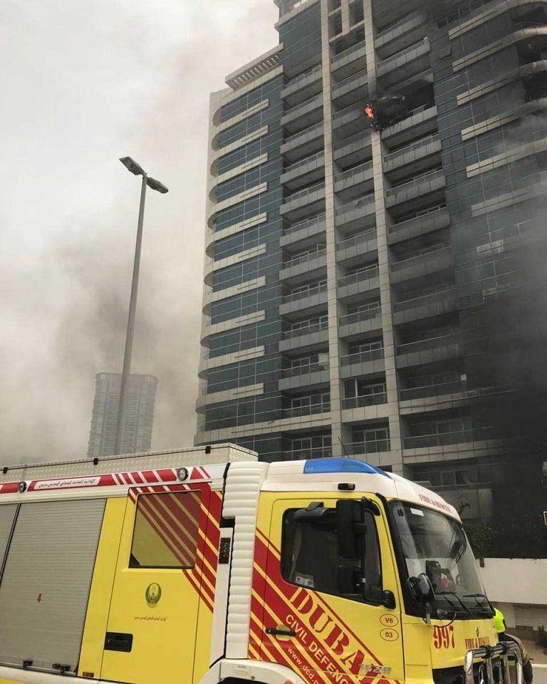Massive fire breaks out in Dubai Marina tower