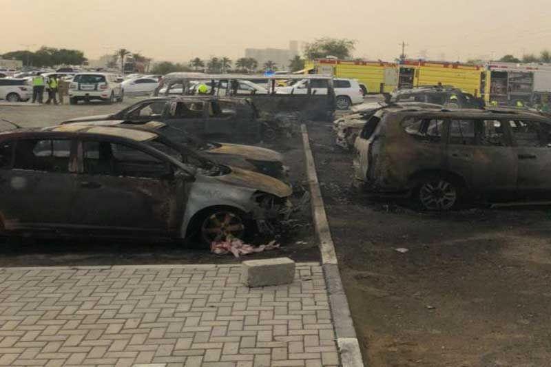 11 cars set ablaze in Dubai mall fire
