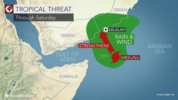 Cyclone Mekunu set to hit Oman later this week