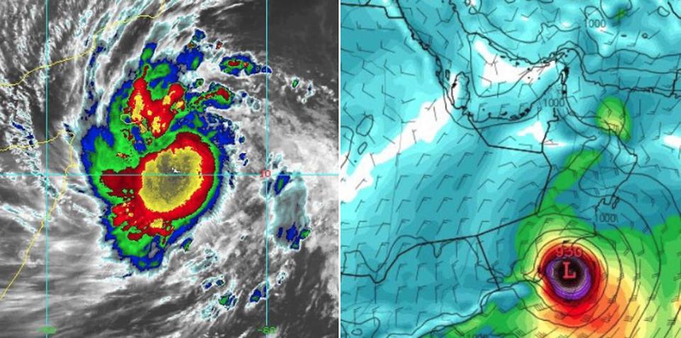Cyclone Mekunu intensifies as it bears down on Oman