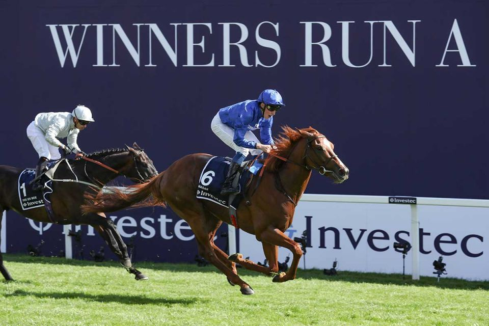 Godolphin's Masar storm to first Epsom Derby victory - in pictures