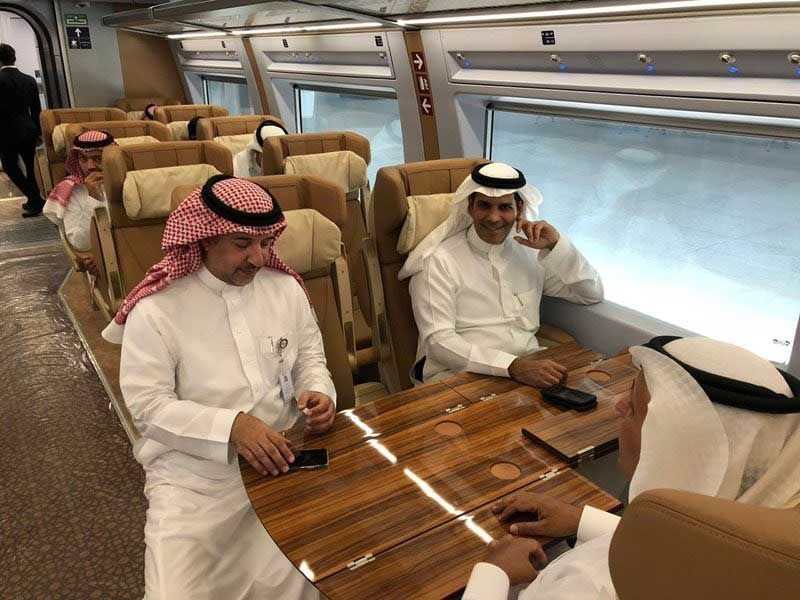 Saudi's Haramain Express train offered first free trip with 200 citizens - in pictures