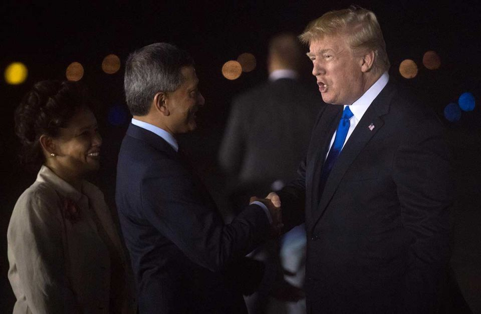 In pictures: Trump and Kim arrive in Singapore for historic summit