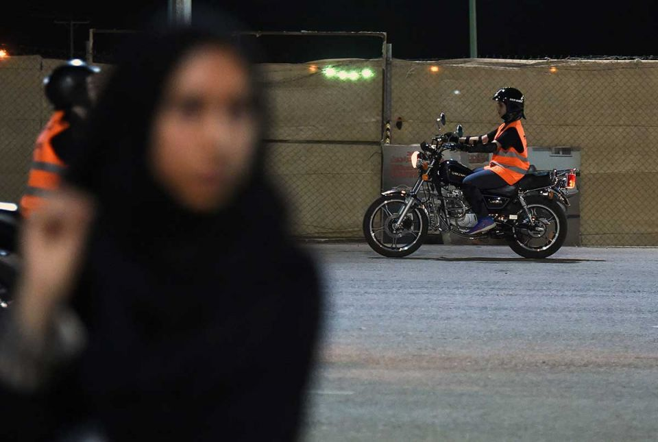 In pictures: Female bikers training session in Saudi Arabia