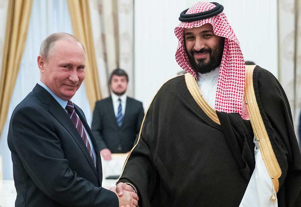 Saudi prince, Vladimir Putin pledge coordination ahead of OPEC+ meeting