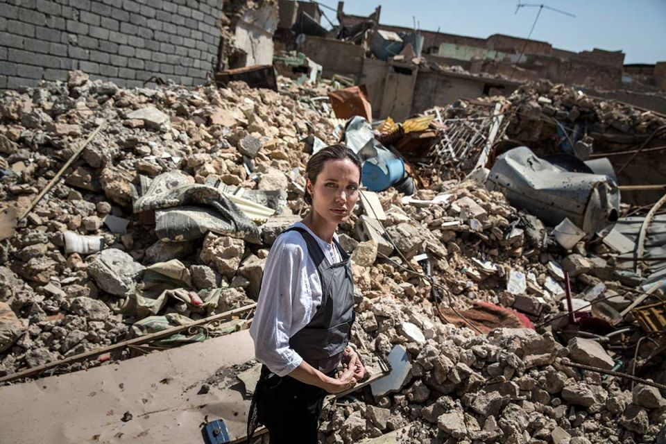 In pictures: Angelina Jolie visits the ruins of Iraq's Mosul