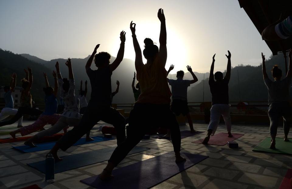 Indian PM Narendra Modi leads International Yoga Day