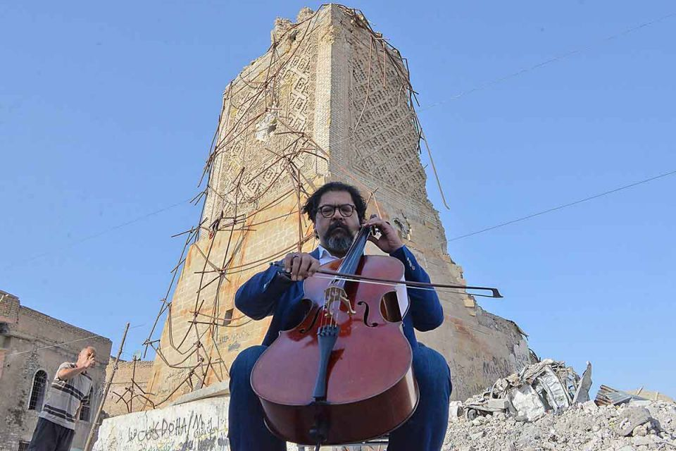 'Maestro of Baghdad' brings sounds of 'peace, coexistence' to ruins of Iraq's Mosul