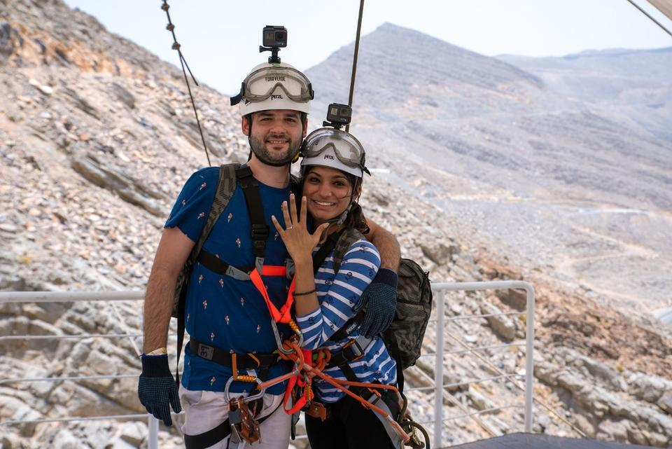 I do: Indian is first to propose on Ras Al Khaimah zipline