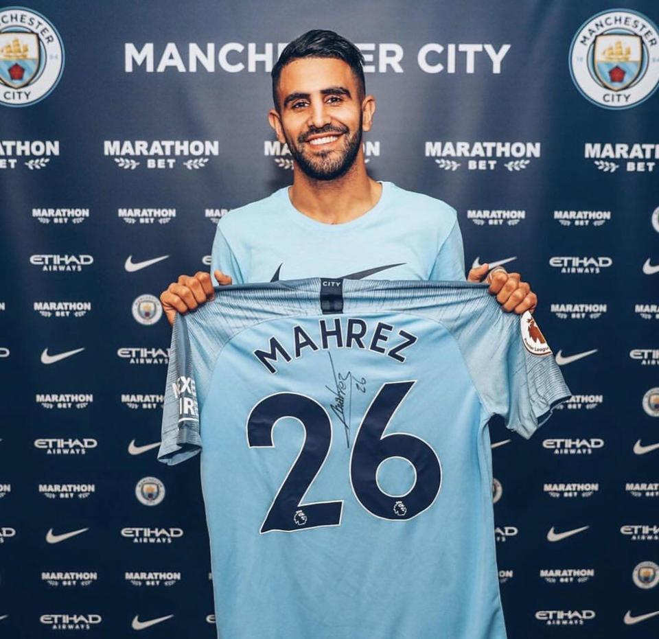Riyad Mahrez joins Manchester City for club-record fee