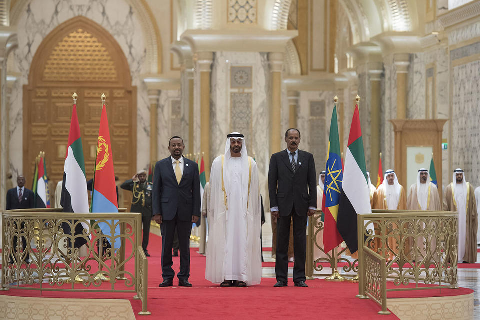 In pictures: Eritrean and Ethiopian leaders meet at the Presidential Palace in Abu Dhabi