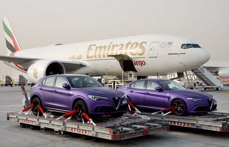 Emirates SkyCargo transports cars for world-famous Gumball 3000 rally