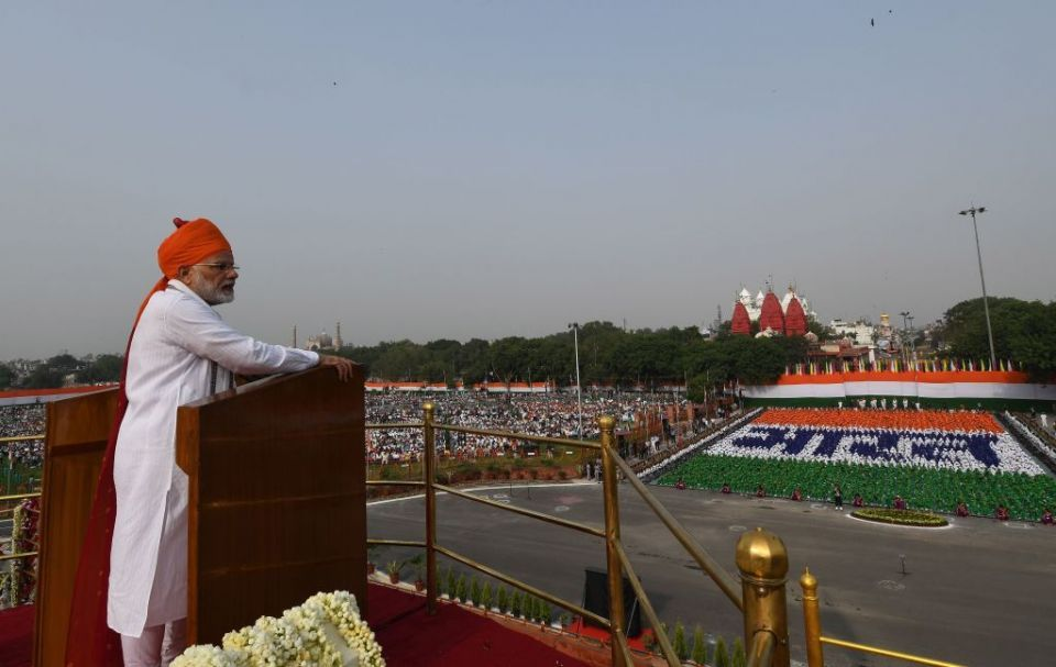 India 'poised for record economic growth', says Modi on Independence Day