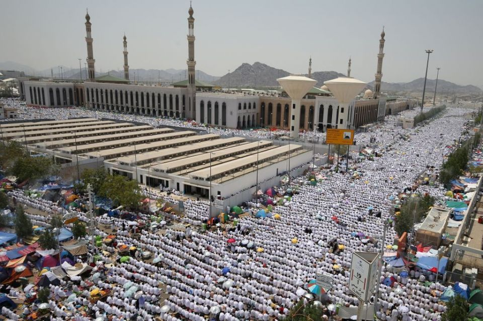 Muslim pilgrims climb Mount Arafat for peak of hajj