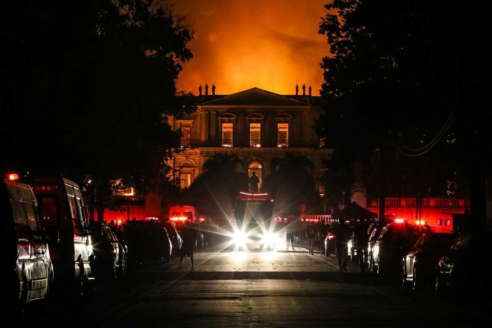In pictures: Massive fire engulfs 200-year-old Brazil National Museum