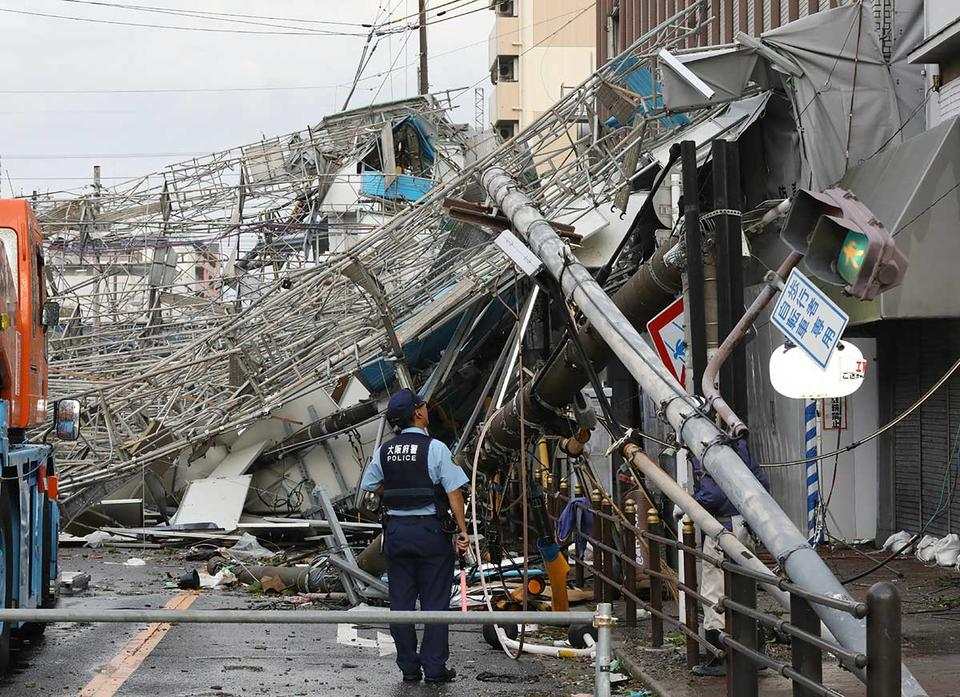 In pictures: Strongest typhoon Jebi hits Japan