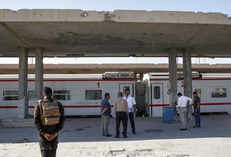 In pictures: Iraq's newly revived railway linking between Baghdad and Fallujah