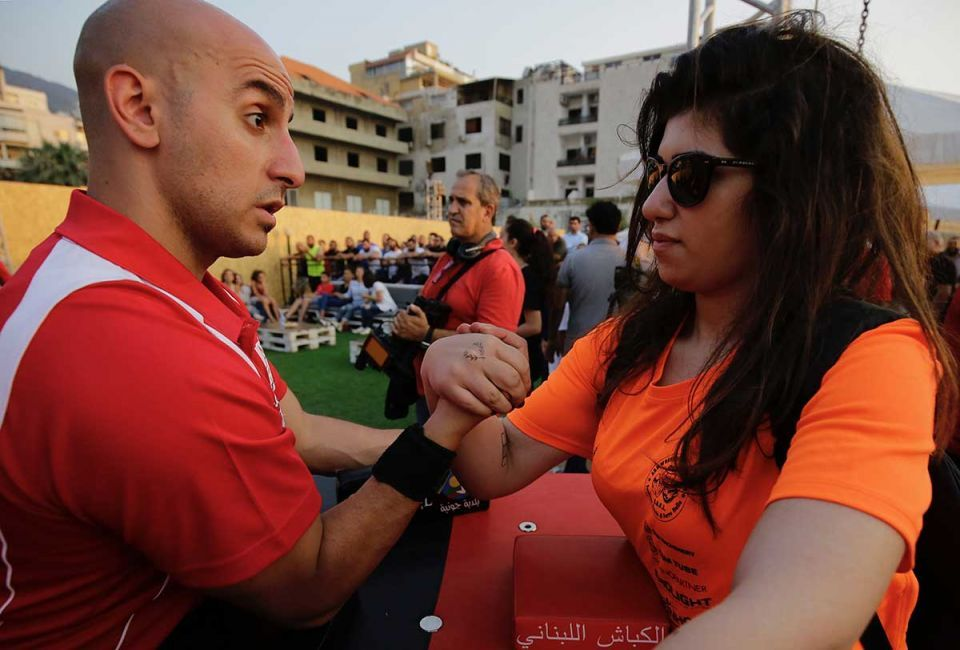 In pictures: Lebanese arm wrestlers revive century-old tradition