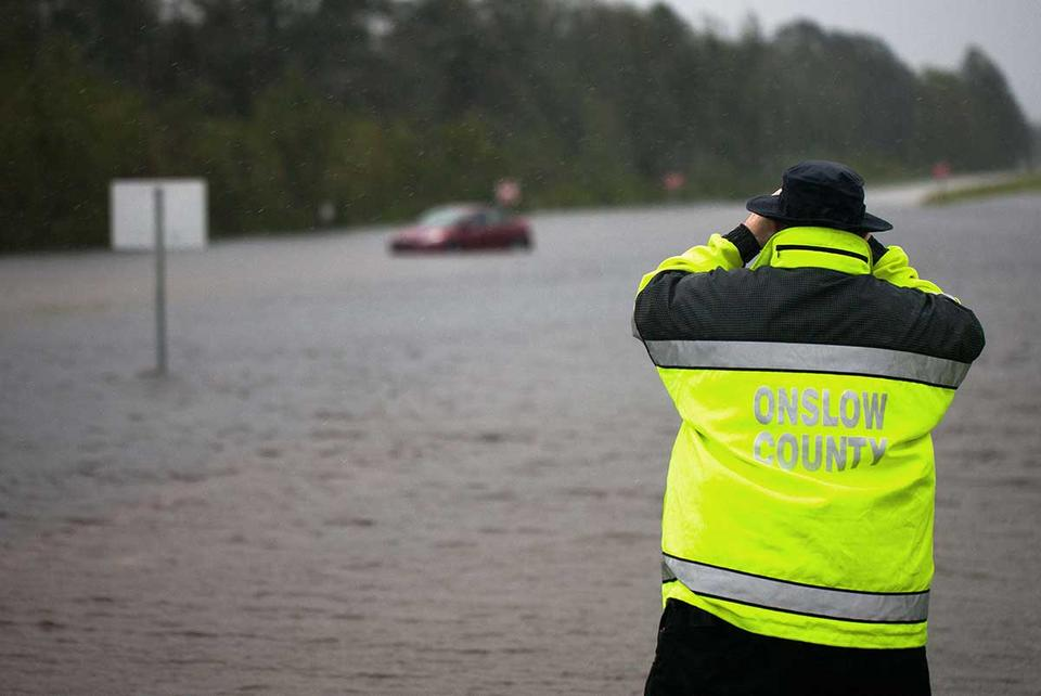 In pictures: Monster storm Florence dumping 'epic amounts of rainfall' in US
