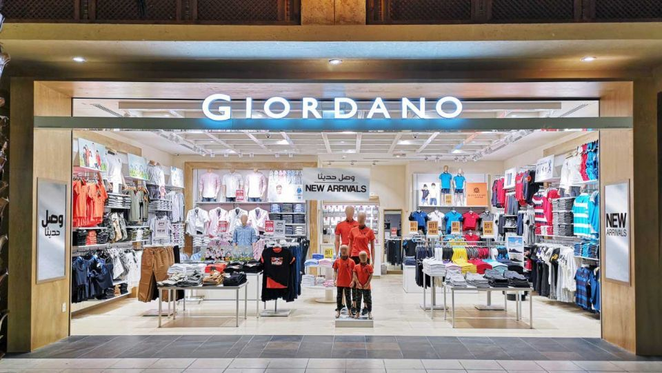 Apparel brand Giordano expands in Gulf