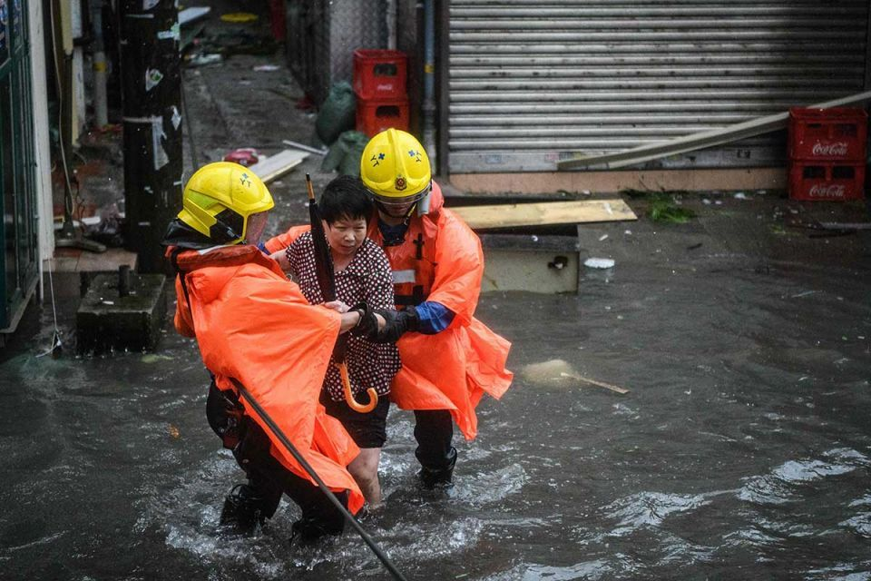 In pictures: Super typhoon Mangkhut rocked Hong Kong en route to mainland China after killing 64 in Philippines