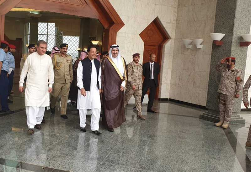 Pakistan's PM Khan starts maiden foreign visit to Saudi amid bailout speculation