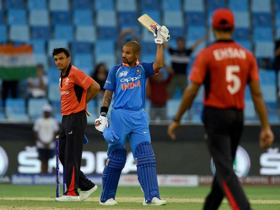 Asia Cup 2018: India avoid Hong Kong upset after Dhawan's hundred