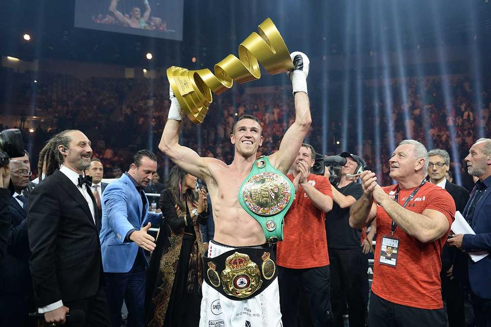 In pictures: Britain's Callum Smith knocks out George Groves to claim WBA world title in Saudi Arabia