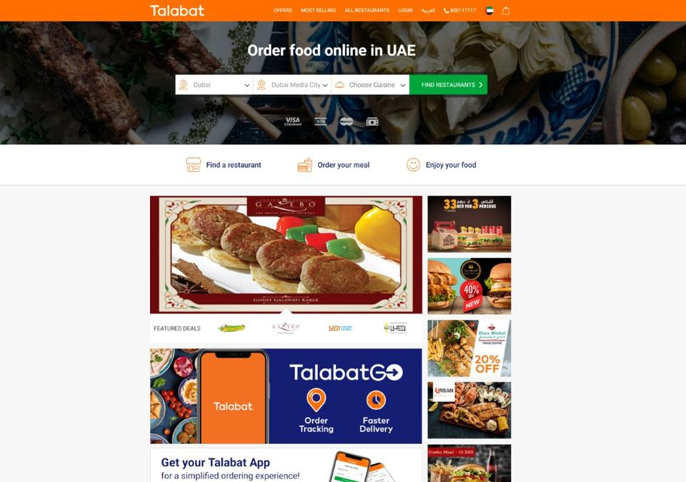 Food delivery platform Talabat eyeing growth outside the Gulf region, says exec