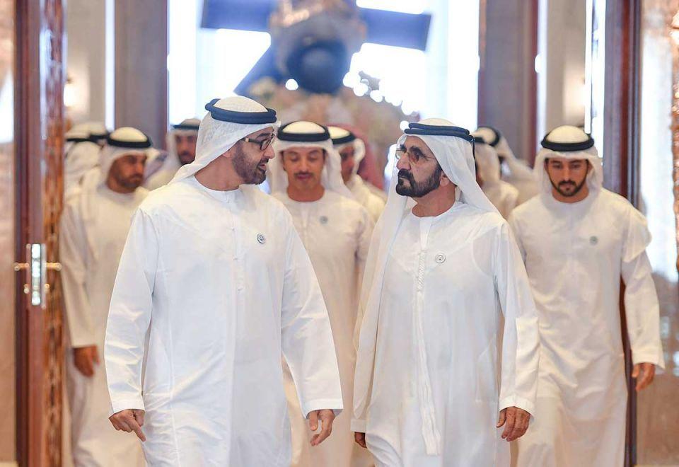 In pictures: UAE leaders receive KhalifaSAT Emirati engineering team