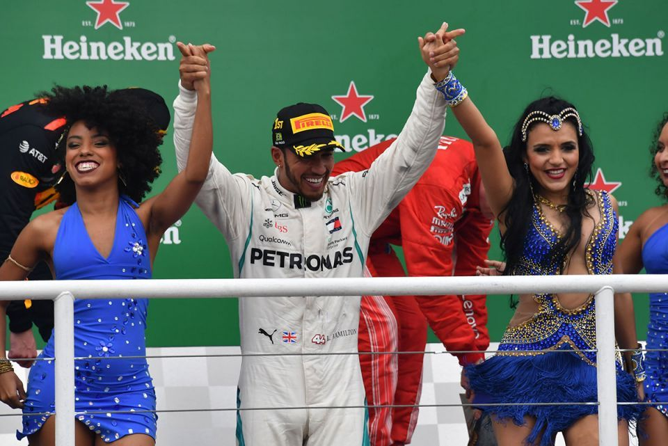 In pictures: Five-time world champion Lewis Hamilton wins Brazilian GP