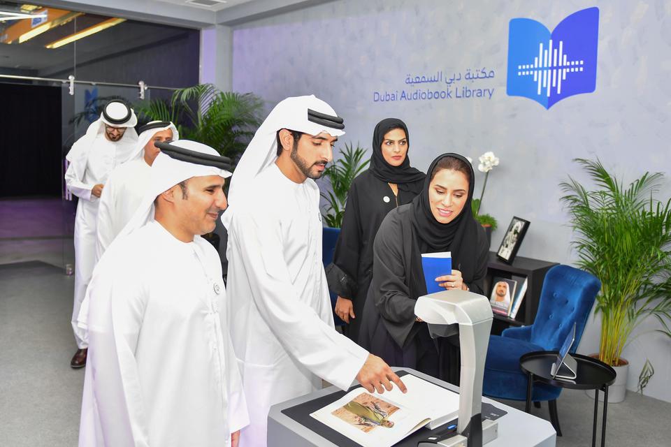 Sheikh Hamdan launches world's largest Arabic audio library