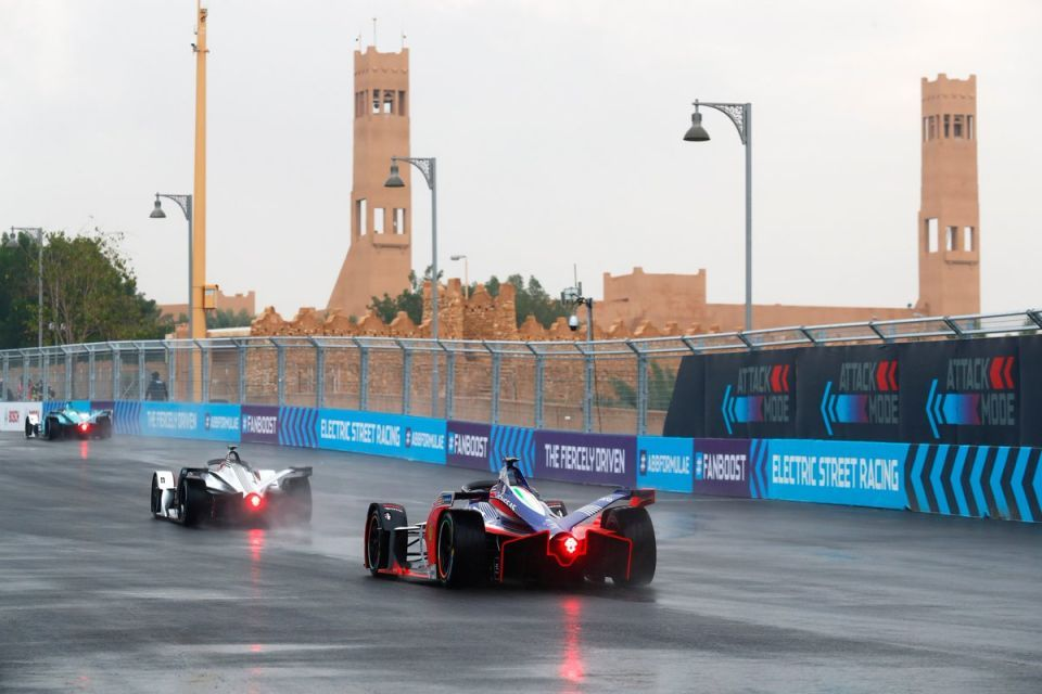 Heavy rain disrupts practice for first Formula E-Prix in Saudi Arabia