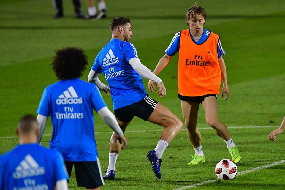 In pictures: Real Madrid squad stepped out on to the training pitch in Abu Dhabi
