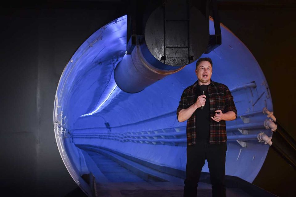 In pictures: Elon Musk unveiled a low-cost tunnel in Los Angles