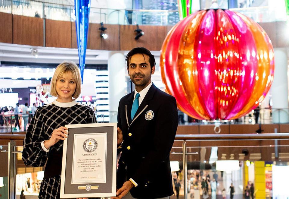 Dubai Mall breaks record for world's largest festive ornament
