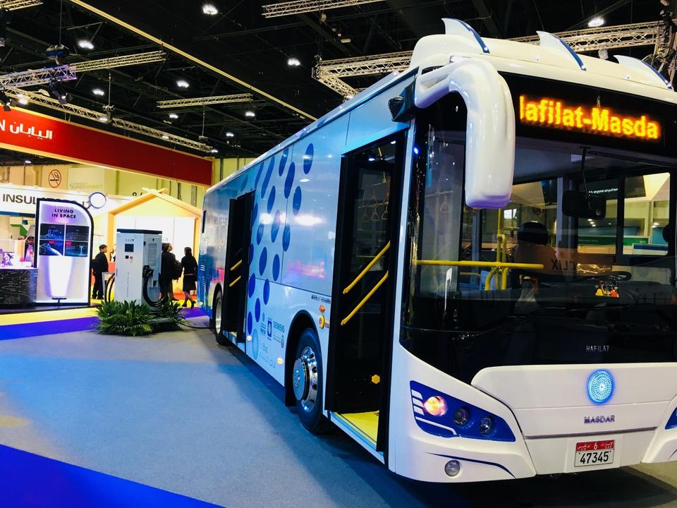 Masdar launches the UAE's first fully electric bus service