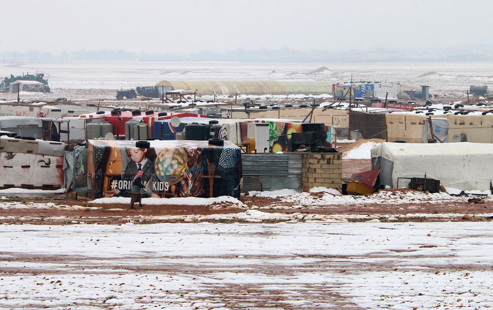 Heavy rains and snow wreck Syrian refugee camps in Lebanon