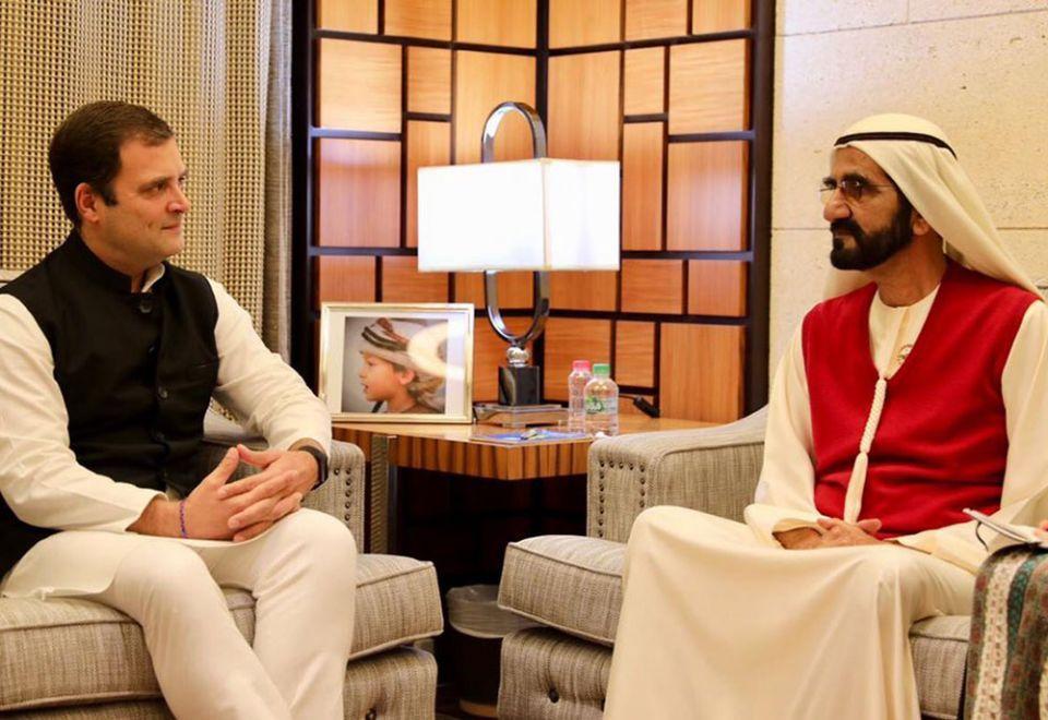 In pictures: Rahul Gandhi in Dubai