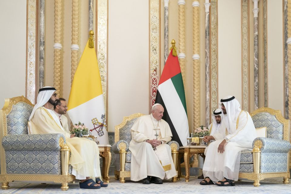 UAE leaders, Pope Francis discuss 'road map for harmony'