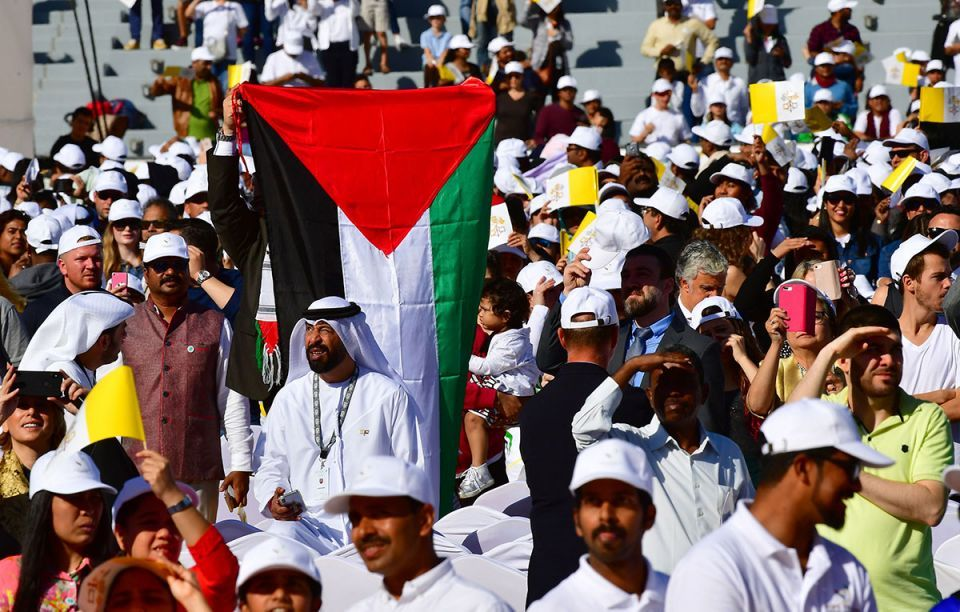 In pictures: Huge crowds gathered at Zayed Sports City Stadium for Pope Francis public mass