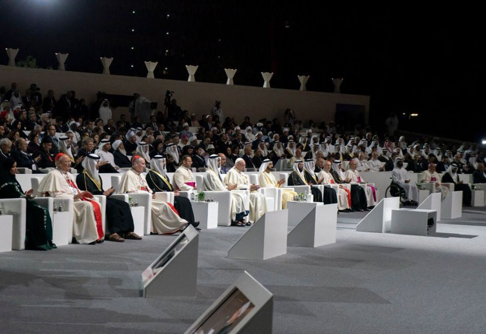 In pictures: Two religious leaders signs historic Abu Dhabi declaration on 'Human Fraternity' at the Founder's Memorial in Abu Dhabi