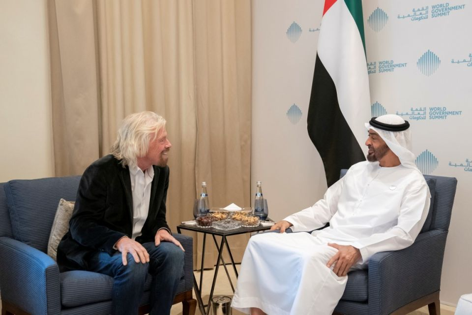 Richard Branson gifts UAE flag taken into space