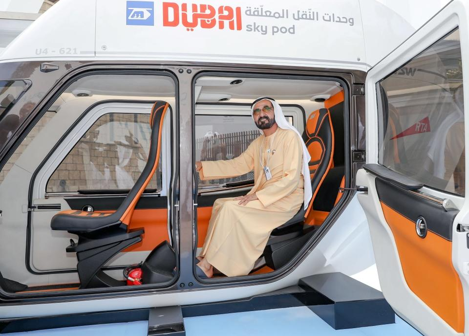 In pictures: Sheikh Mohammed inspects Dubai's new Sky Pod models