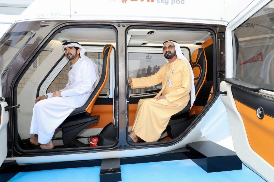 Sheikh Mohammed inspects Dubai's new Sky Pods