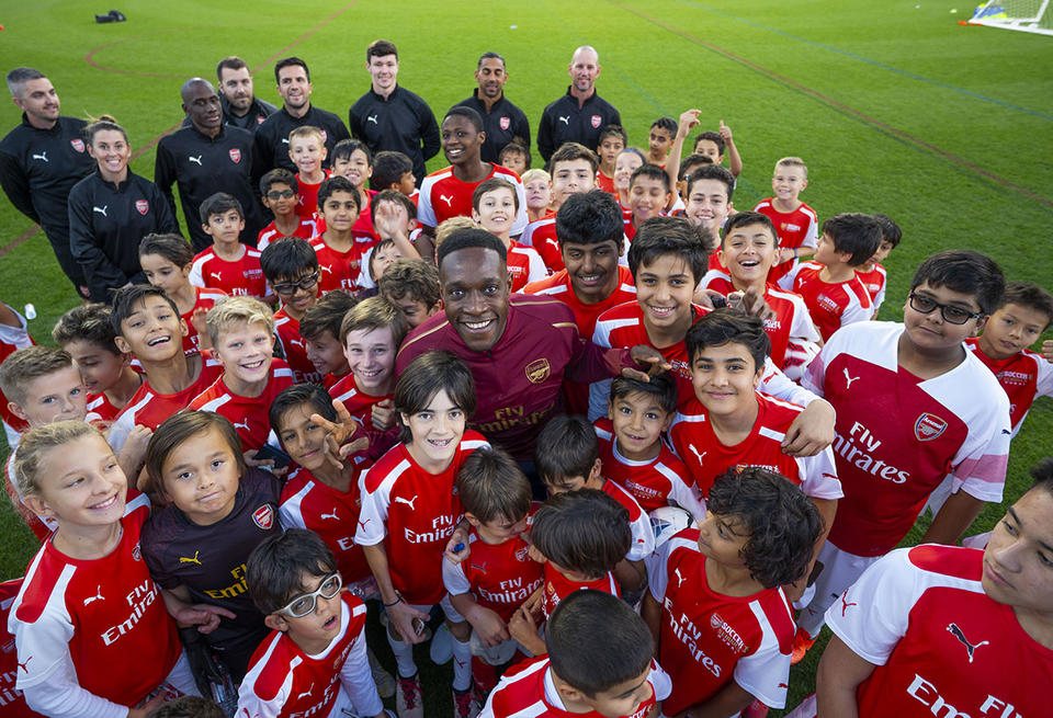In pictures: Danny Welbeck visits Arsenal Soccer School in Dubai