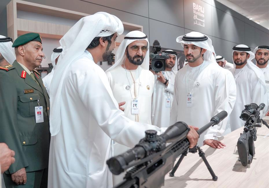 In pictures: Sheikh Mohammed visits defence expo in Abu Dhabi