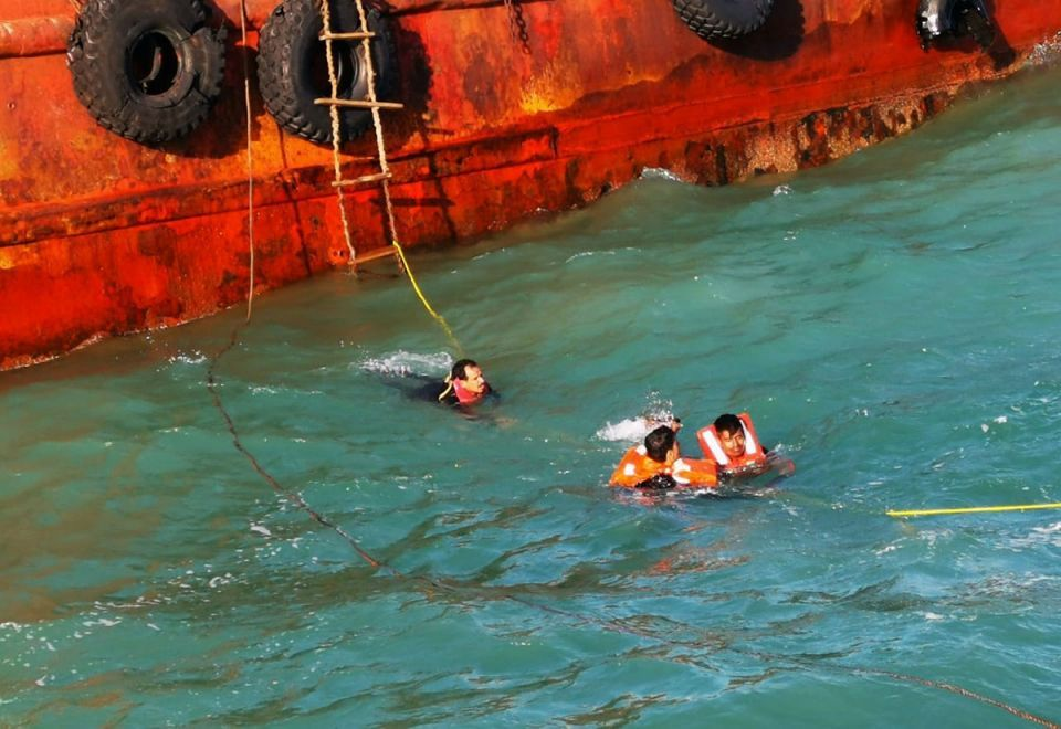14 sailors rescued by Dubai Police after ship capsizes off coast