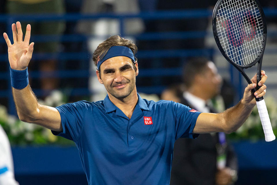In pictures: Roger Federer begins chase for eighth title in Dubai